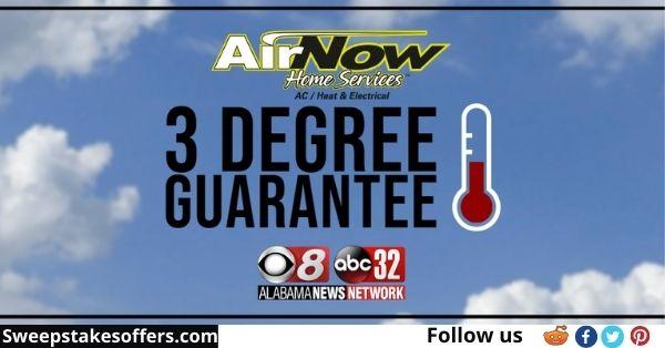 Alabama News 3 Degree Guarantee Giveaway