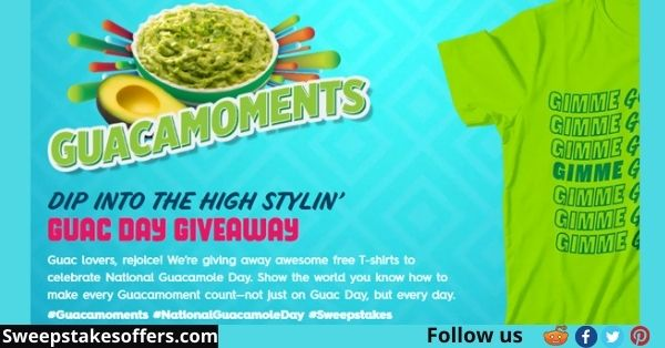 Avocados From Mexico Guac Day Sweepstakes