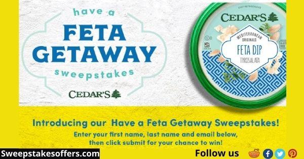 Cedar's Feta Getaway Sweepstakes