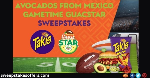 Avocados From Mexico Gametime Guacstar Sweepstakes