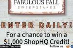 ShopHQ's Fabulous Fall Sweepstakes