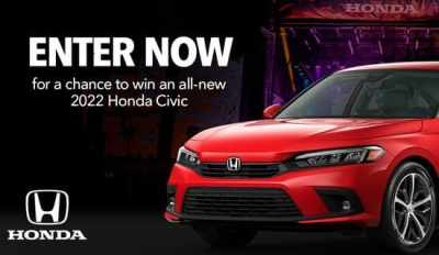 Honda Stage at Music Festivals Sweepstakes