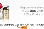 Club Olay Sign Up Sweepstakes Win A $100 E-Code Redeemable At Olay