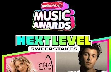 RADIO DISNEY MUSIC AWARDS (RDMA) NEXT LEVEL SWEEPSTAKES-WIN A TRIP