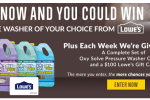 Oxy Solve Pressure Washer Cleaner Sweepstakes Win $1,000 Lowe's Gift Card