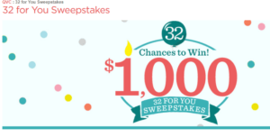 QVCs 32 For You Sweepstakes