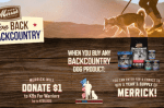 MERRICK PET CARE'S GIVE BACK GO BACKCOUNTRY sweepstakes