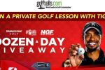dozen-a-day giveaway + tiger woods lesson sweepstakes