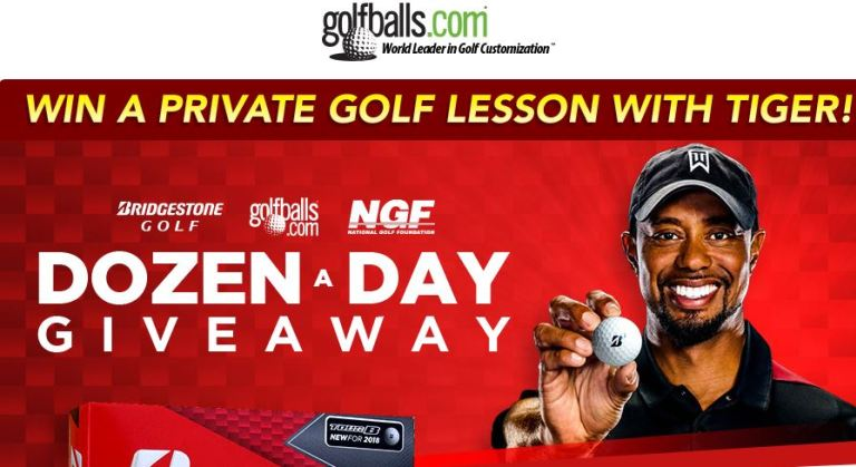 DOZEN-A-DAY GIVEAWAY + TIGER WOODS LESSON