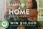 Bhgrelife Starts with a Home Sweepstakes
