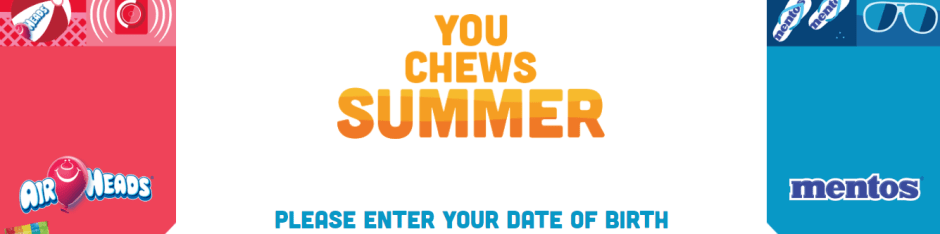 Airheads & Mentos You Chews Summer Sweepstakes