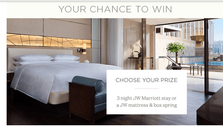 JW Marriott Curated by JW July 2018 Sweepstakes
