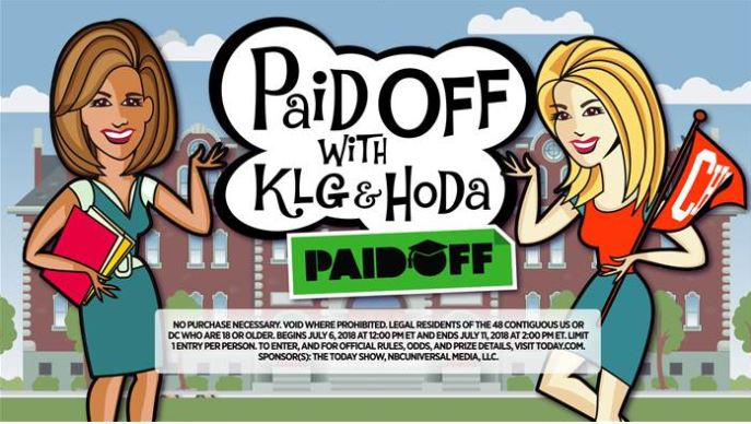 KLG and Hoda Paid Off Contest