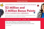 James Patterson and Scholastic Book Clubs Classroom Library Giveaway 2018