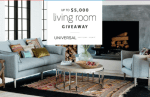 Universal Furniture Living Room Giveaway
