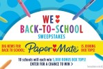 PAPER MATE WE LOVE BACK-TO-SCHOOL SWEEPSTAKES