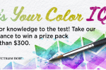 Blick Art Supplies What's Your Color IQ Sweepstakes