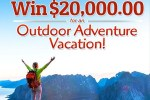 PCH Outdoor Adventure Vacation Sweepstakes - Win $20000 Cash