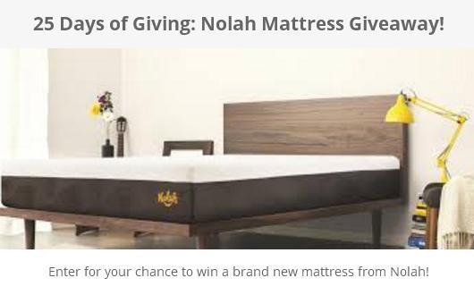 25 Days Of Giving Nolah Mattress Giveaway