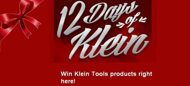 Klein Tools 12 Days of Klein Sweepstakes