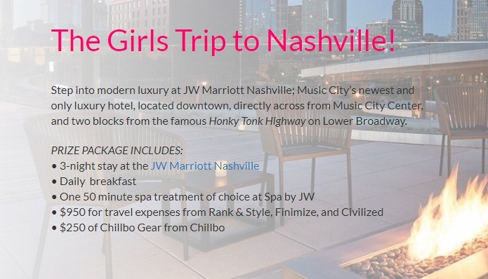 Sole Serum Girls Trip To Nashville Sweepstakes