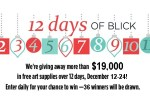 12 Days of Blick Art Material Sweepstakes