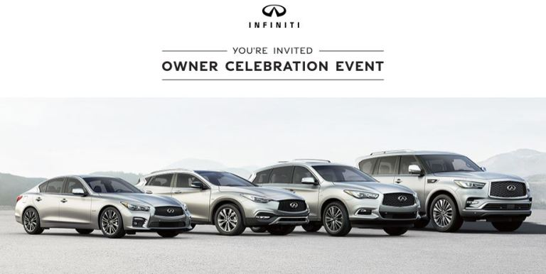 Infiniti Owner Celebration Event Sweepstakes - win a trip
