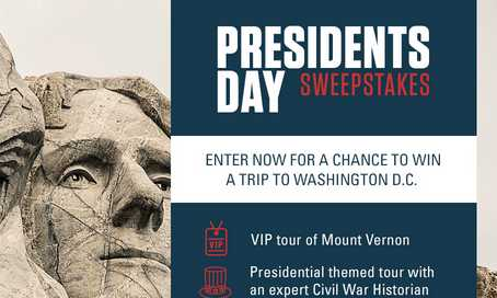 History Channel Presidents Day Sweepstakes