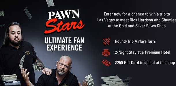 History Channel Pawn Stars Ultimate Fan Experience Sweepstakes