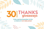 HGTV 30 Days of Thanks Giveaways