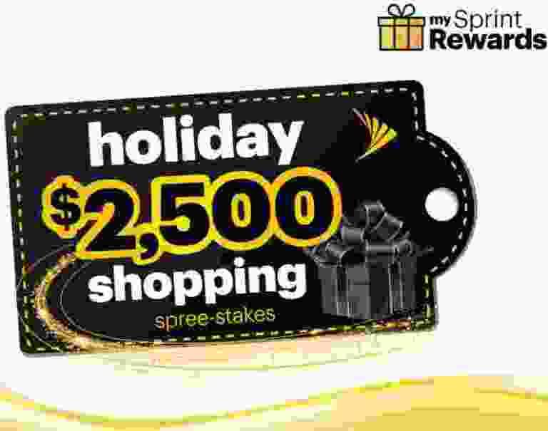 Sprint $2500 Holiday Spree-stakes Sweepstakes