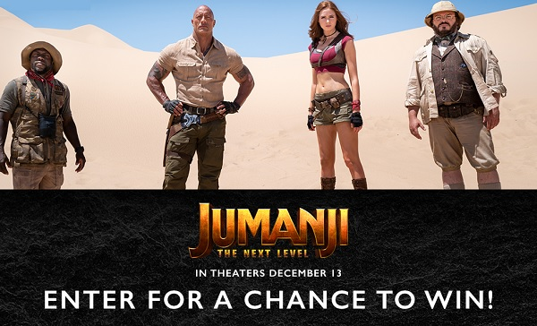 Sony Rewards Jumanji: The Next Level Giveaway