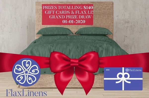 FlaxLinens.com 15 Days of Holiday Giveaway 2019