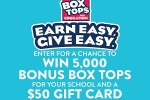 Box Tops For Education Earn Easy, Give Easy Sweepstakes