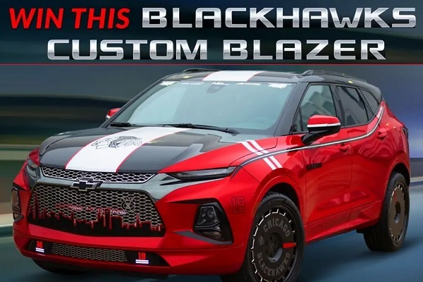 Chevy Blackhawks Themed Blazer Giveaway