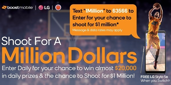 Boost Mobile Sweepstakes on Shootfor1million.Com