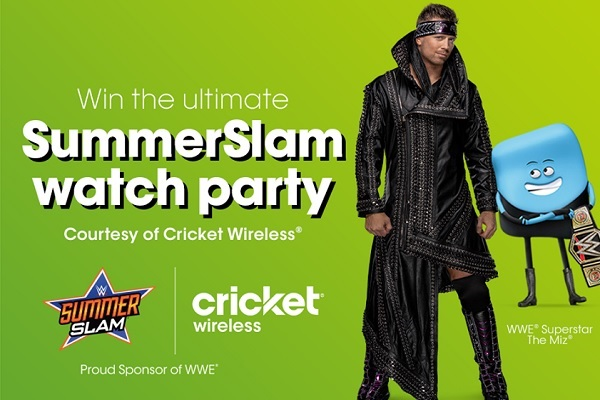 Cricket Wireless SummerSlam Sweepstakes 2020