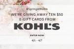 Saving Kohl's Gift Card Giveaway
