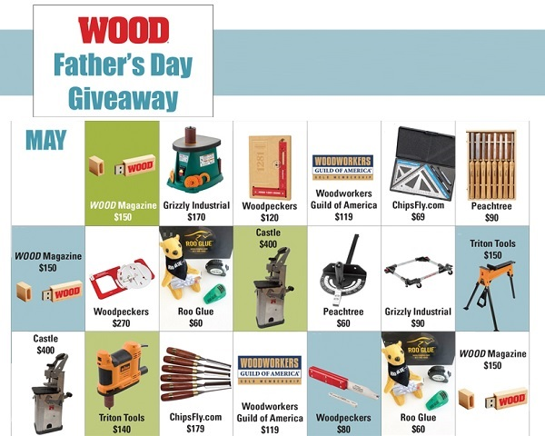 Wood Magazine Father's Day Giveaway 2020