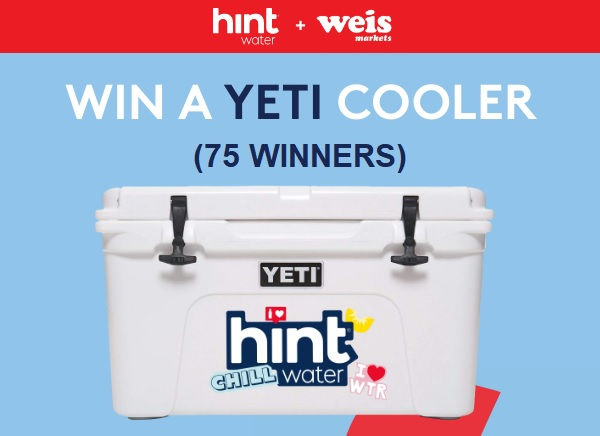 Weis Markets Yeti Cooler Sweepstakes (75 Winners)