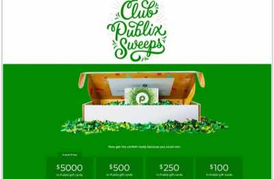Club Publix Sweepstakes 2020