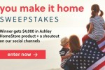 Ashley furniture You Make It Home Sweepstakes 2020