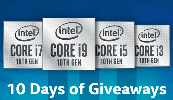 Intel Gaming 10 Days of Giveaways 2020
