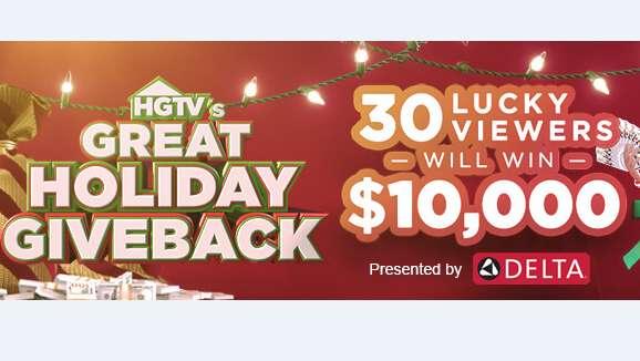 HGTV Great Holiday Giveback Sweepstakes Code Word