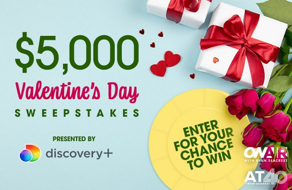 On Air with Ryan Seacrest's Valentine's Day Sweepstakes