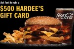 Hardee's Free Gift Card Giveaway