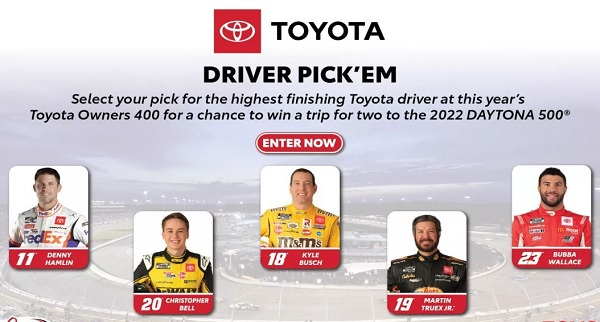Toyota Driver Pick'em Sweepstakes