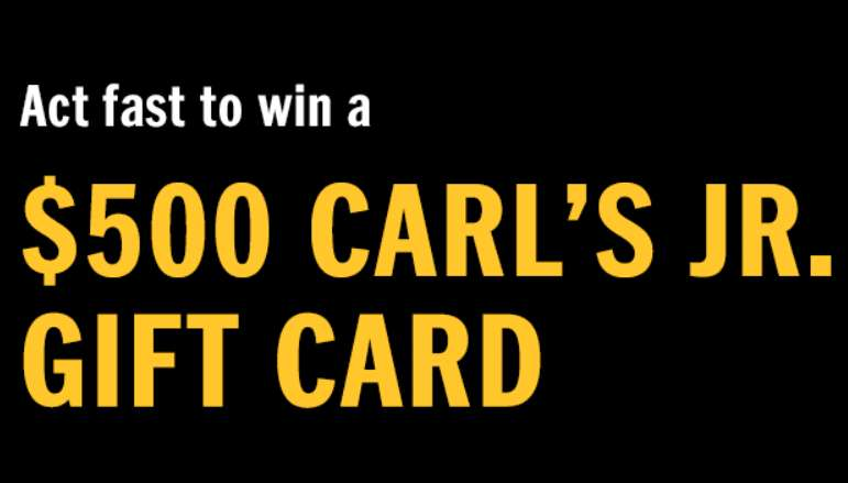 Carl's Jr. Gift Card Giveaway