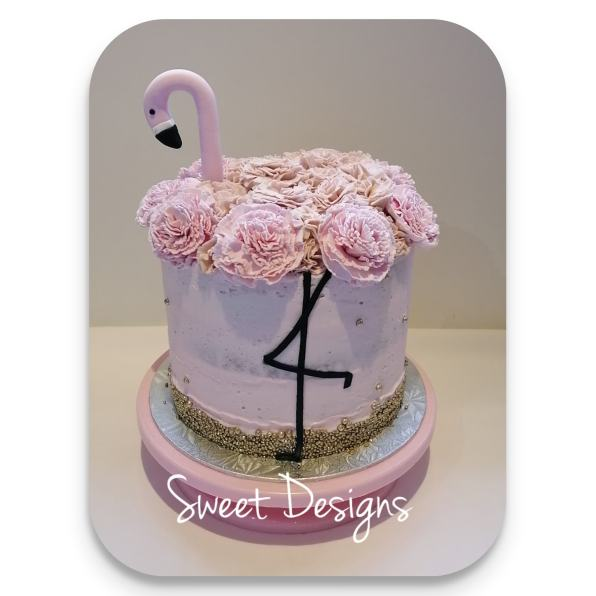 Flamingo Birthday Cake
