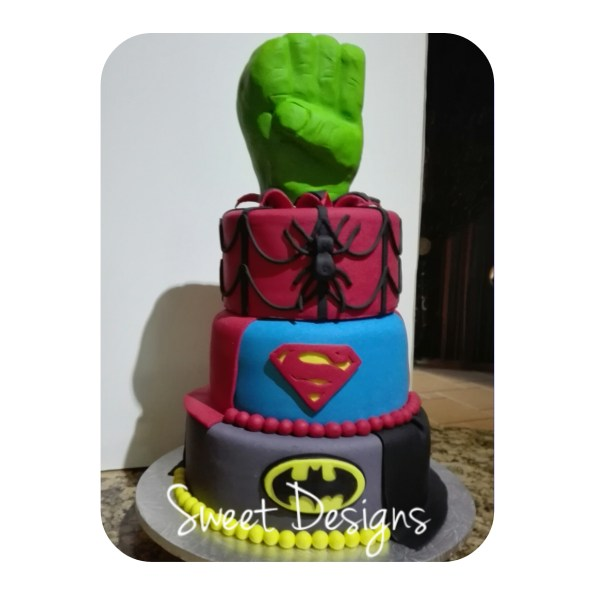3Tier Super Hero Cake